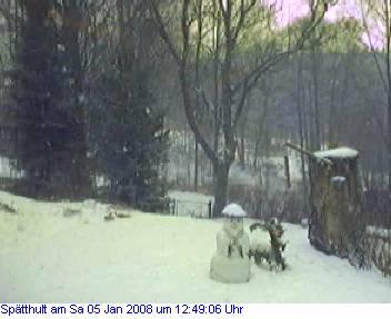 Das Schneewettenbild aus Spätthult für den 06. Januar 2008