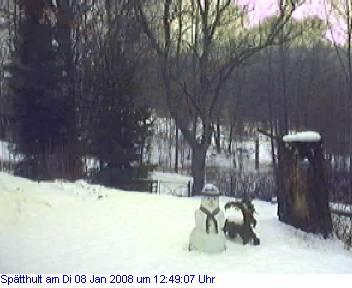 Das Schneewettenbild aus Spätthult für den 08. Januar 2008