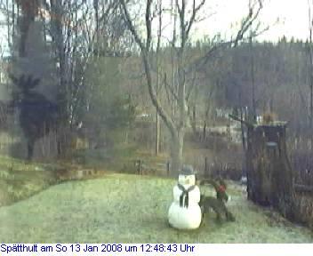 Das Schneewettenbild aus Spätthult für den 13. Januar 2008