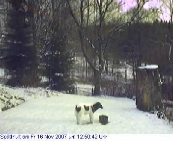 Das Schneewettenbild aus Spätthult für den 16. November 2007
