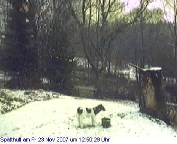 Das Schneewettenbild aus Spätthult für den 23. November 2007