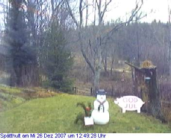 Das Schneewettenbild aus Spätthult für den 26. Dezember 2007